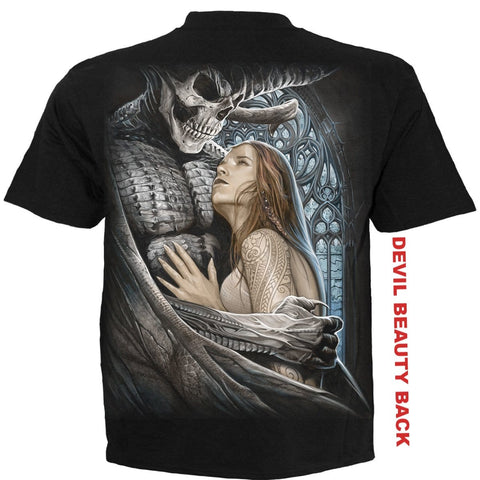 Image of DEVIL BEAUTY - T-Shirt Black - Spiral USA