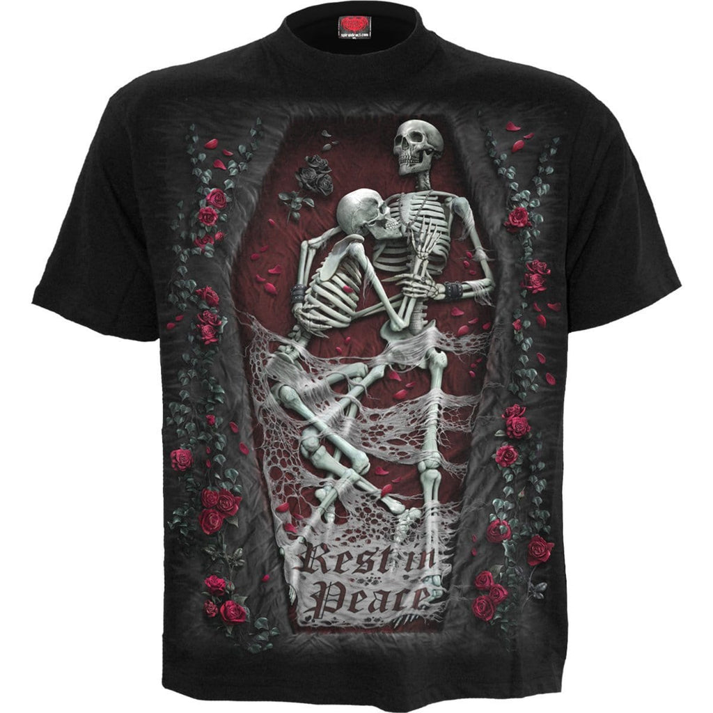 REST IN PEACE - T-Shirt Black - Spiral USA