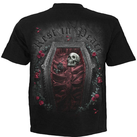 Image of REST IN PEACE - T-Shirt Black - Spiral USA