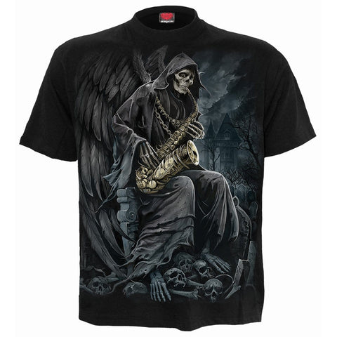 Image of REAPER BLUES - T-Shirt Black - Spiral USA