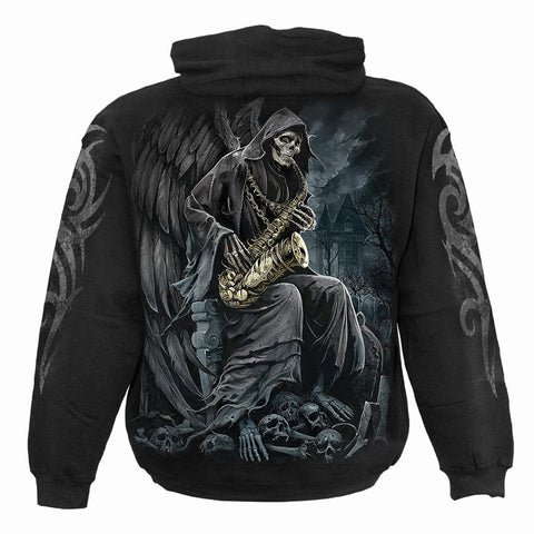 Image of REAPER BLUES - Hoody Black - Spiral USA