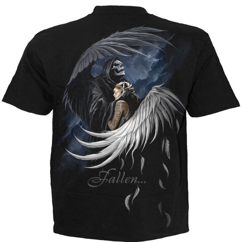 Image of FALLEN  - T-Shirt Black - Spiral USA
