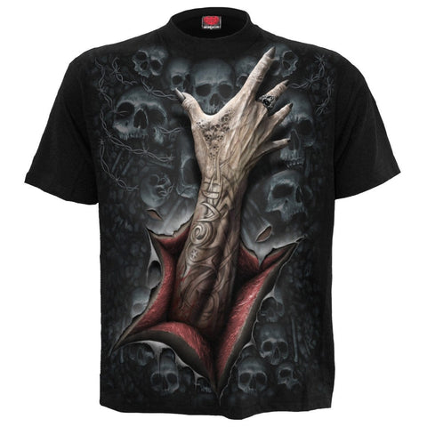 STRANGLER - T-Shirt Black - Spiral USA