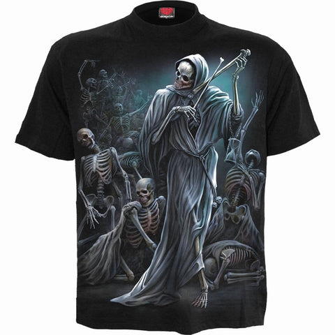 Image of DANCE OF DEATH - T-Shirt Black - Spiral USA