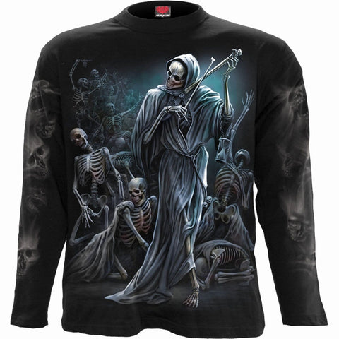 Image of DANCE OF DEATH - Longsleeve T-Shirt Black - Spiral USA