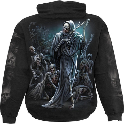 Image of DANCE OF DEATH - Hoody Black - Spiral USA