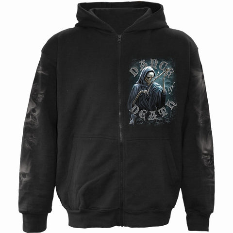Image of DANCE OF DEATH - Full Zip Hoody Black - Spiral USA