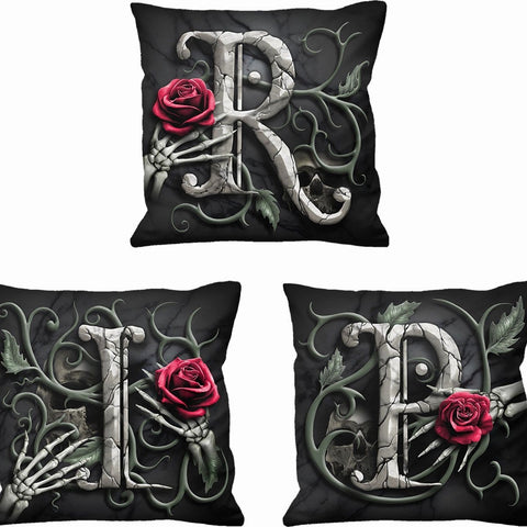 R.I.P. - Square Cushion (Set of 3) - Spiral USA