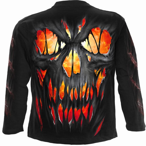 FRIGHT NIGHT - Longsleeve T-Shirt Black - Spiral USA