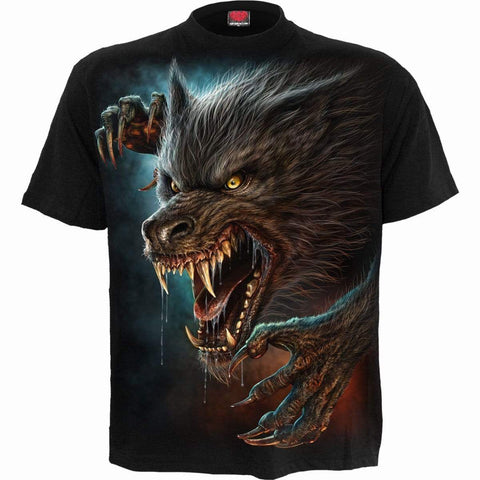 Image of WILD MOON - T-Shirt Black - Spiral USA