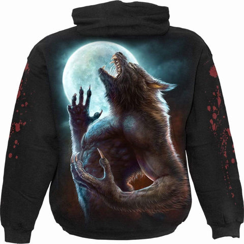 Image of WILD MOON - Hoody Black - Spiral USA