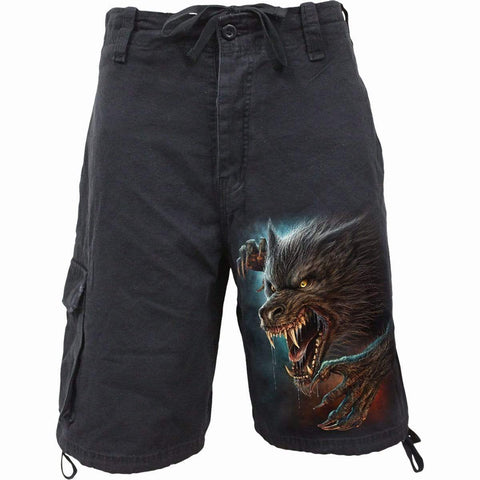 Image of WILD MOON - Vintage Cargo Shorts Black - Spiral USA