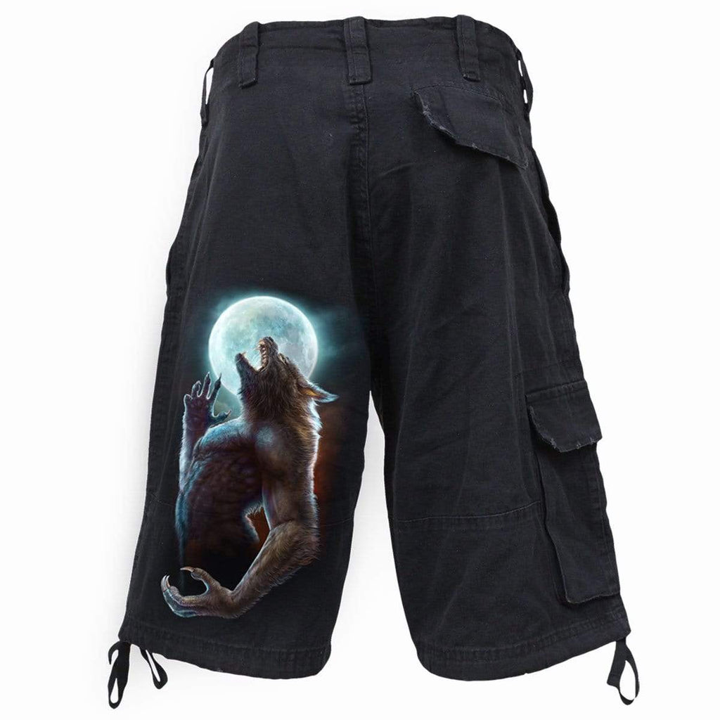 WILD MOON - Vintage Cargo Shorts Black - Spiral USA