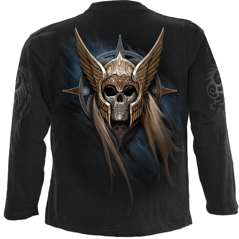 Image of ANGEL WARRIOR - Longsleeve T-Shirt Black - Spiral USA