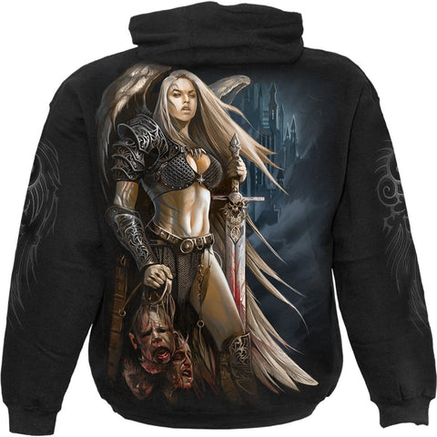Image of ANGEL WARRIOR - Hoody Black - Spiral USA