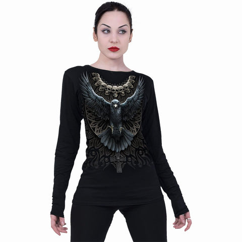 RAVEN SKULL - Baggy Top Black - Spiral USA