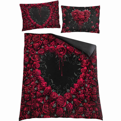 Image of BLEEDING HEART - Double Duvet Cover + UK And EU Pillow case - Spiral USA