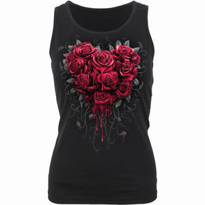BLEEDING HEART - Razor Back Top Black - Spiral USA