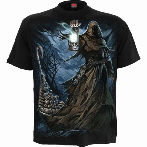 Image of FERRYMAN - T-Shirt Black - Spiral USA