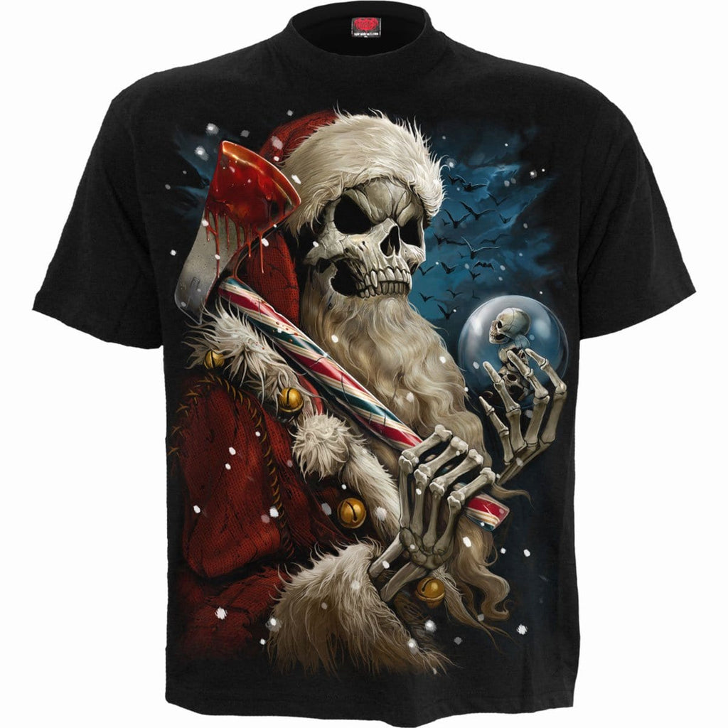 CANDY CANE SANTA - T-Shirt Black - Spiral USA
