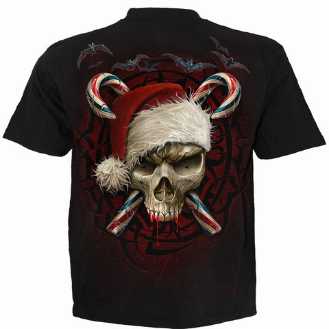 Image of CANDY CANE SANTA - T-Shirt Black - Spiral USA