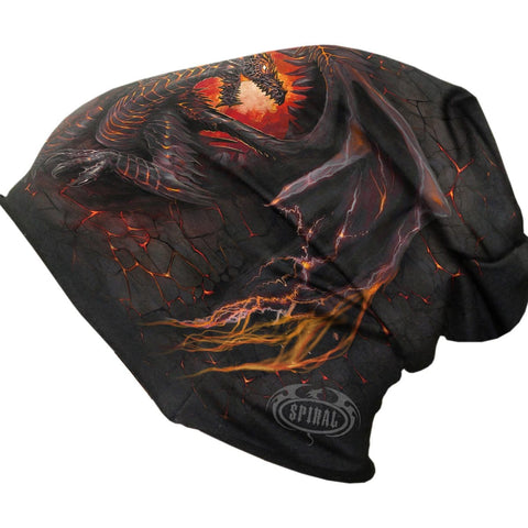 DRAGON FURNACE - Light Cotton Beanies Black - Spiral USA