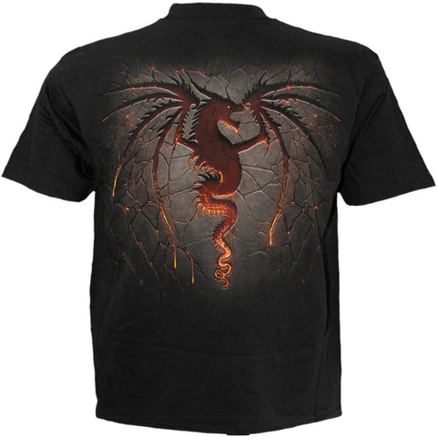 DRAGON FURNACE - Kids T-Shirt Black - Spiral USA