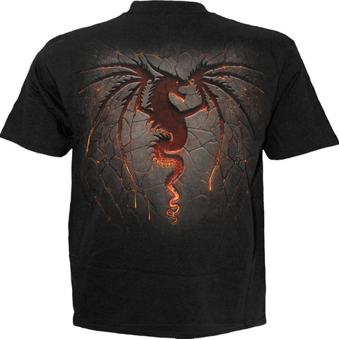 Image of DRAGON FURNACE - T-Shirt Black - Spiral USA