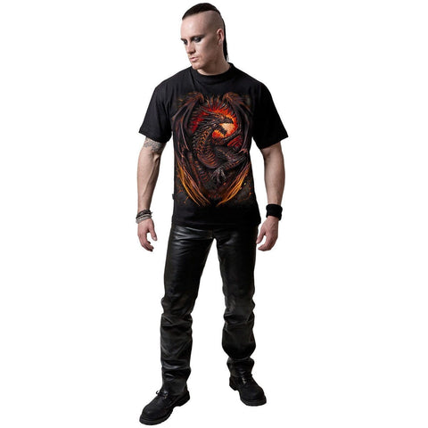 DRAGON FURNACE - T-Shirt Black - Spiral USA