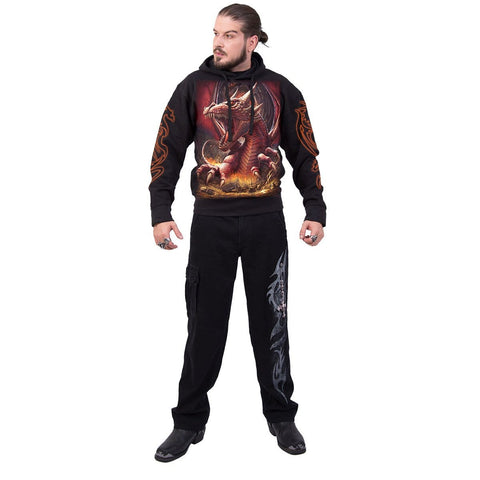 AWAKE THE DRAGON - Hoody Black - Spiral USA