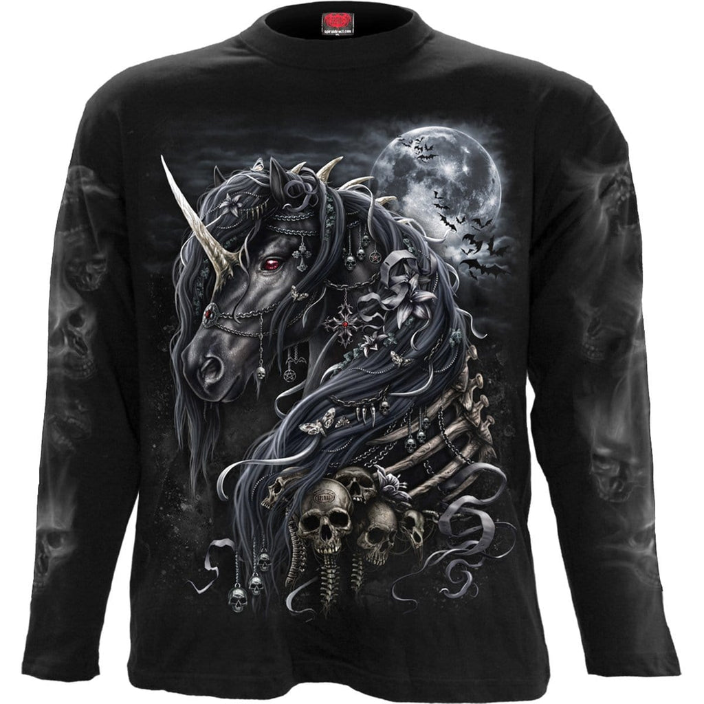 DARK UNICORN - Longsleeve T-Shirt Black - Spiral USA