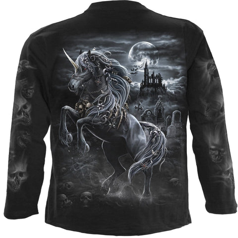 Image of DARK UNICORN - Longsleeve T-Shirt Black - Spiral USA