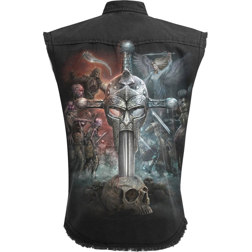 APOCALYPSE - Sleeveless Stone Washed Worker Black - Spiral USA