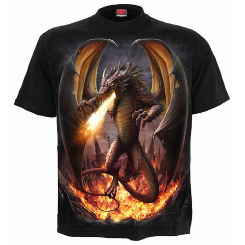 Image of DRACO UNLEASHED - T-Shirt Black - Spiral USA