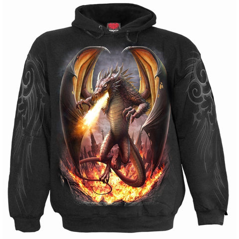 Image of DRACO UNLEASHED - Hoody Black - Spiral USA