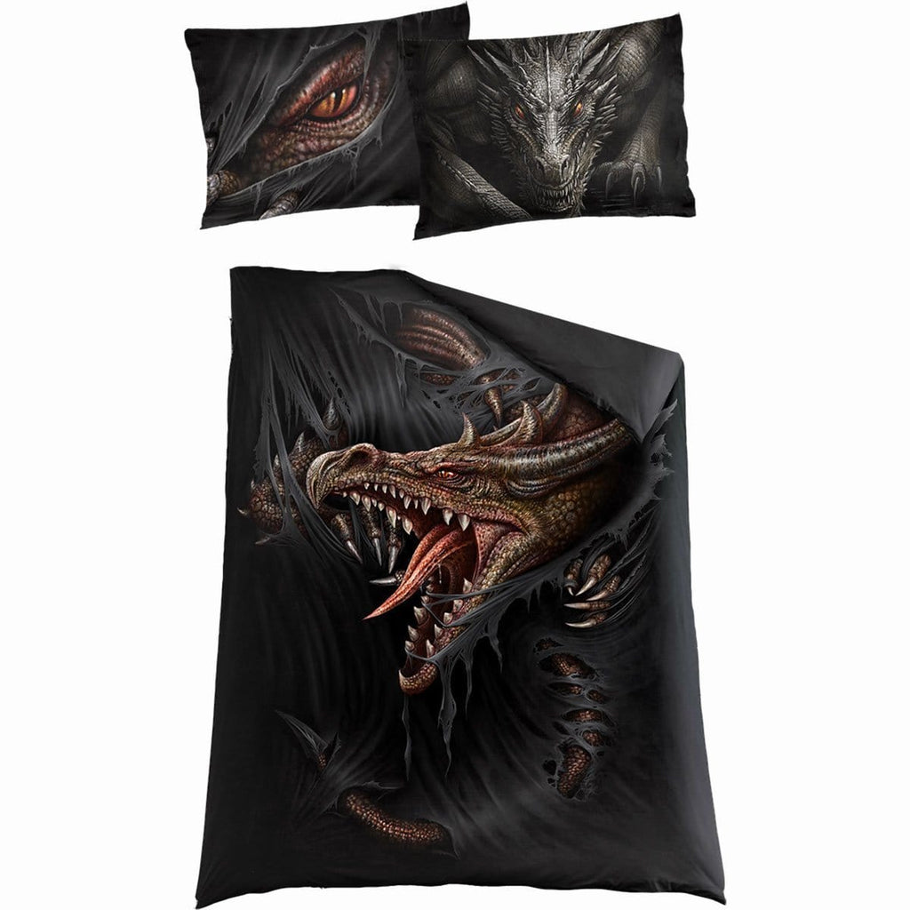MAJESTIC DRACO - Single Duvet Cover + UK And EU Pillow case - Spiral USA