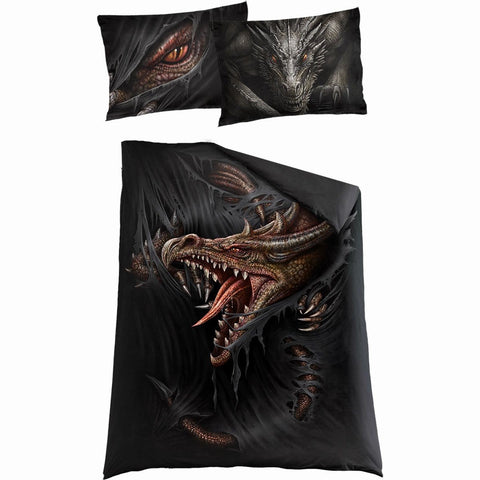 Image of MAJESTIC DRACO - Single Duvet Cover + UK And EU Pillow case - Spiral USA
