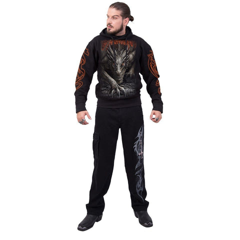 Image of MAJESTIC DRACO - Hoody Black - Spiral USA