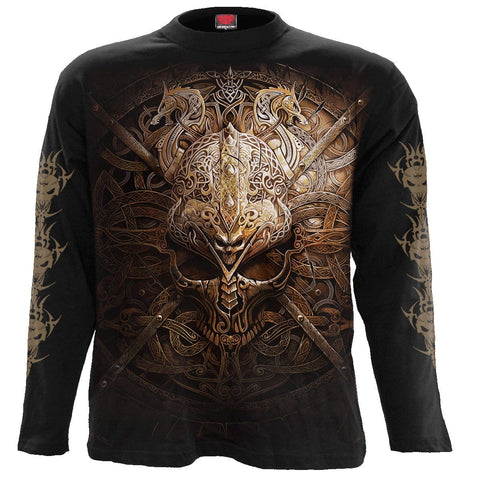 VIKING SHIELD - Longsleeve T-Shirt Black - Spiral USA