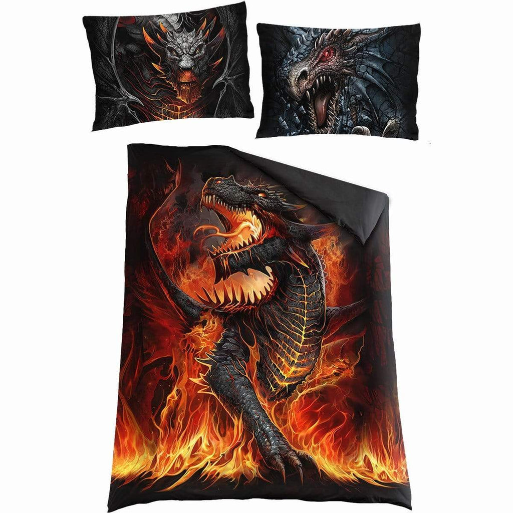 DRACONIS - Single Duvet Cover + UK And EU Pillow case - Spiral USA