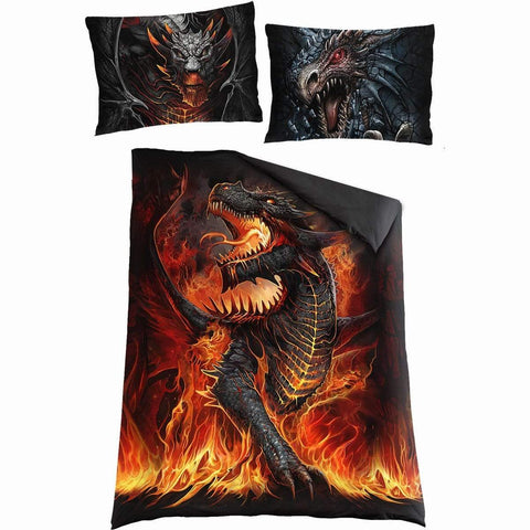 Image of DRACONIS - Single Duvet Cover + UK And EU Pillow case - Spiral USA
