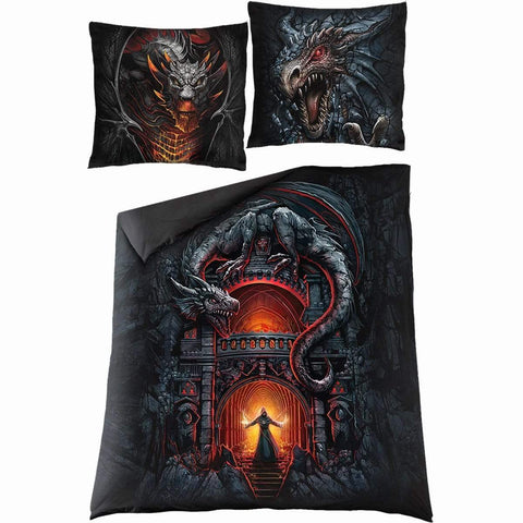 DRACONIS - Double Duvet Cover + UK And EU Pillow case - Spiral USA