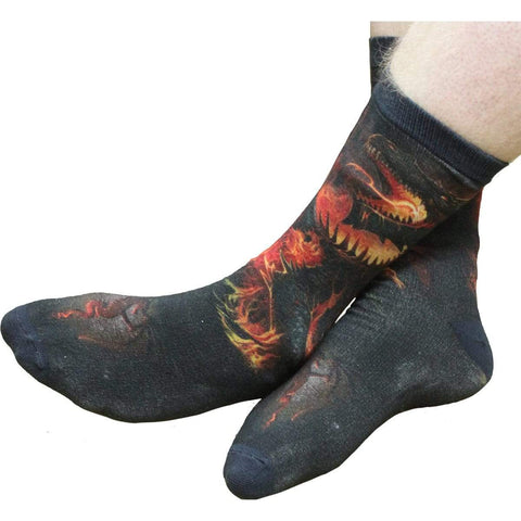 Image of DRACONIS - Unisex Printed Socks - Spiral USA