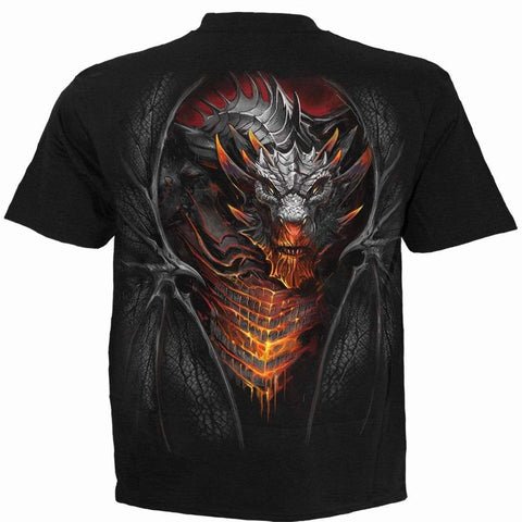 Image of DRACONIS - Kids T-Shirt Black - Spiral USA