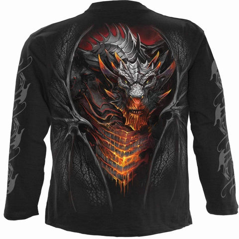 Image of DRACONIS - Longsleeve T-Shirt Black - Spiral USA