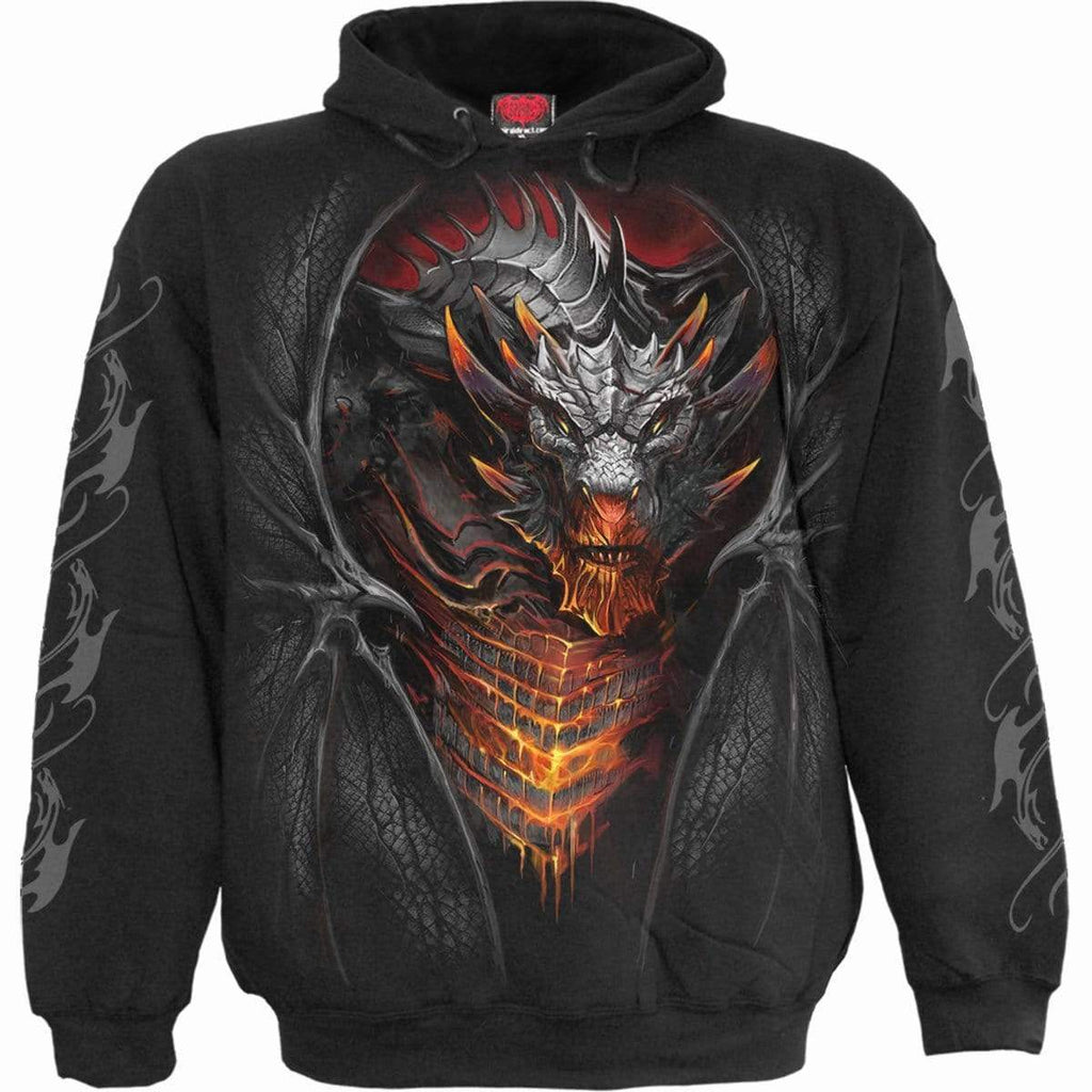 DRACONIS - Hoody Black - Spiral USA
