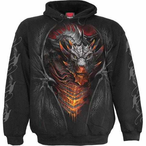 Image of DRACONIS - Hoody Black - Spiral USA