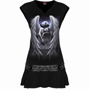 INNER SORROW - Stud Waist Mini Dress Black - Spiral USA