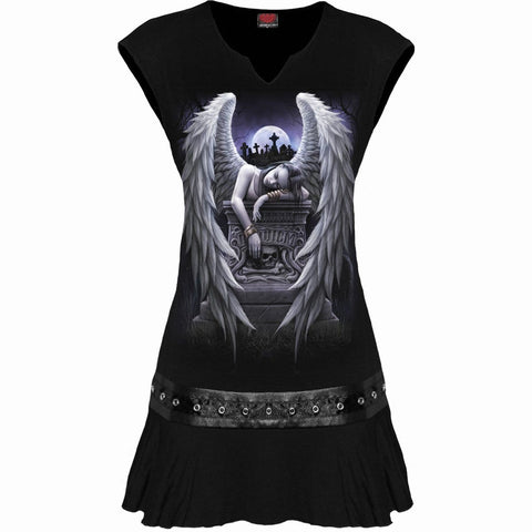Image of INNER SORROW - Stud Waist Mini Dress Black - Spiral USA