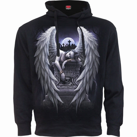 Image of INNER SORROW - Side Pocket Stitched Hoody Black - Spiral USA